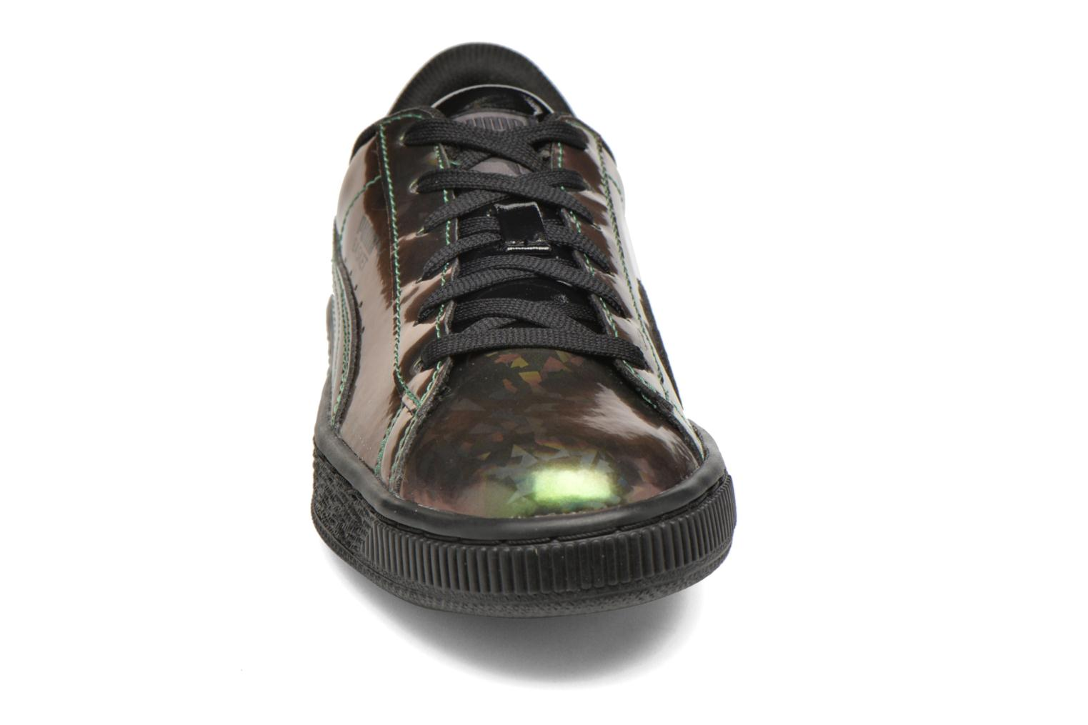Baskets Puma Basket Classic Holo Jr Noir vue portées chaussures