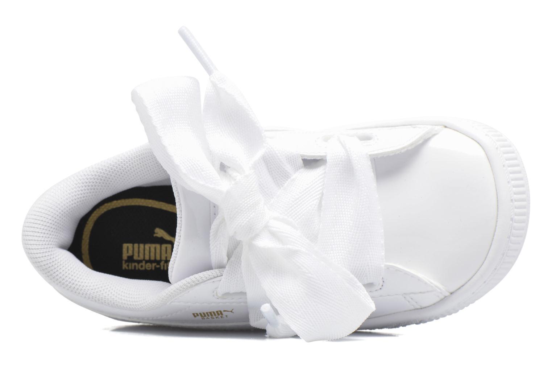 Baskets Puma Basket Heart Patent PS Blanc vue gauche