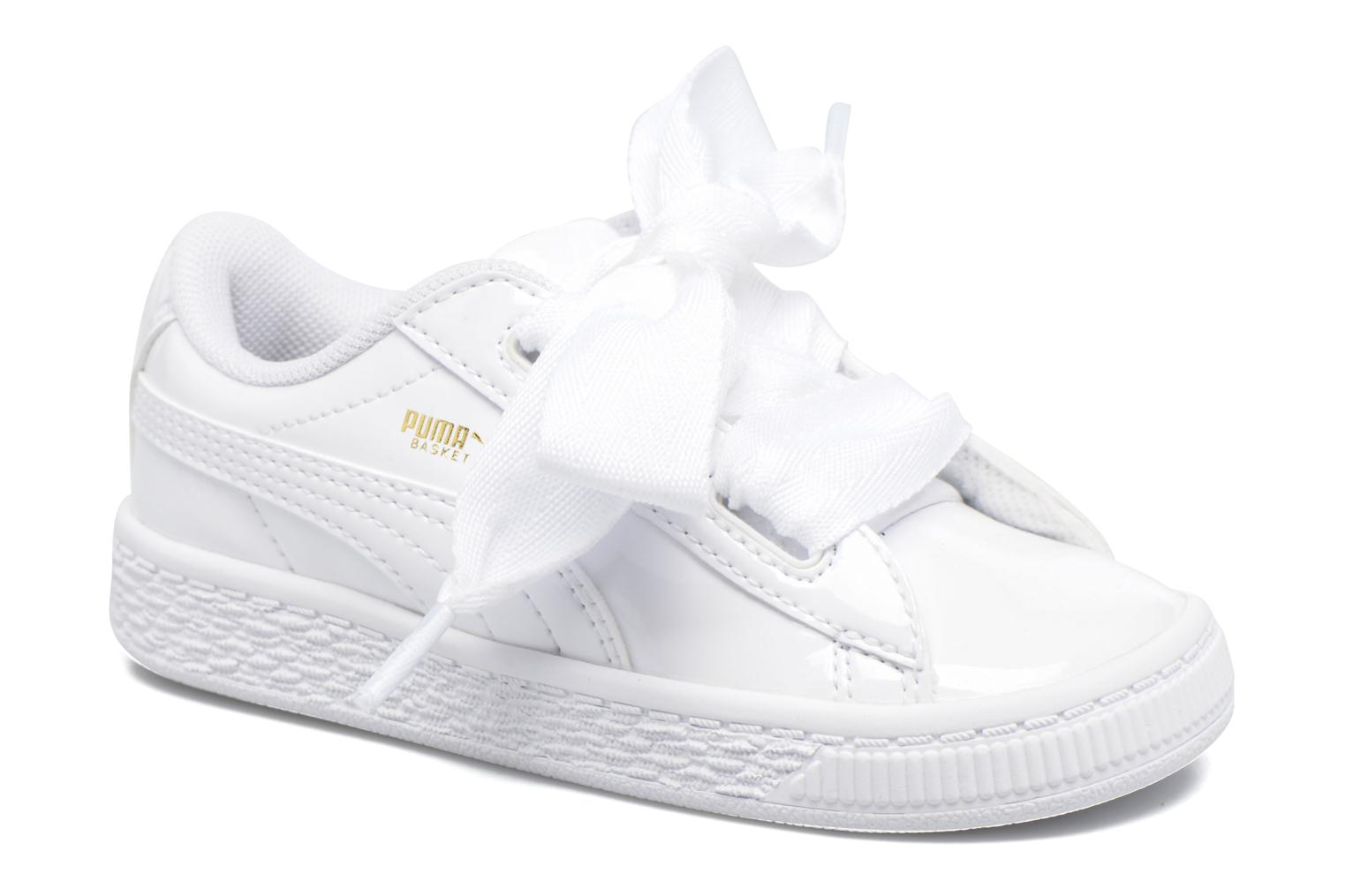 Basket Heart Patent PS White