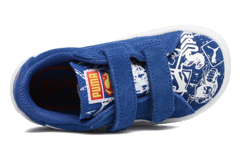 Sneakers Puma Suede Superman Street V Inf Blå se fra venstre