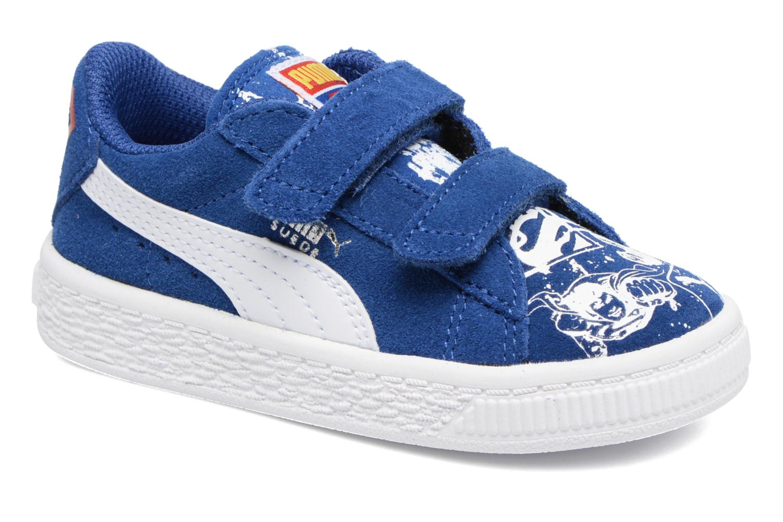 Baskets Puma Suede Superman Street V Inf Bleu vue détail/paire