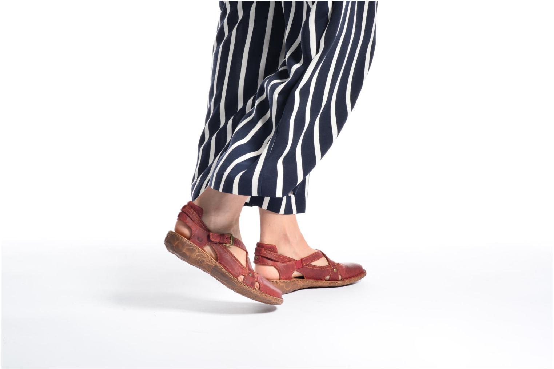 Sandales et nu-pieds Josef Seibel Rosalie 13 Rouge vue bas / vue portée sac