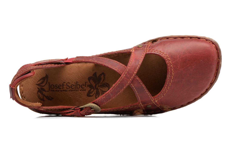 Sandales et nu-pieds Josef Seibel Rosalie 13 Rouge vue gauche