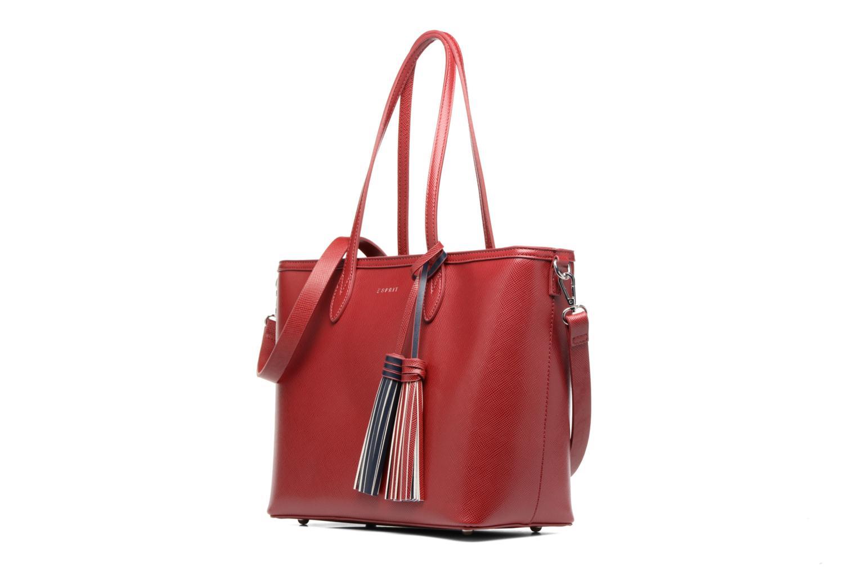 Sacs à main Esprit Saffiano Shopper Rouge vue portées chaussures