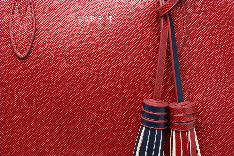 Sacs à main Esprit Saffiano Shopper Rouge vue gauche