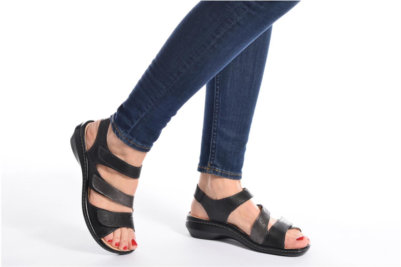 Sandales et nu-pieds Think! Camilla 80434 Noir vue bas / vue portée sac
