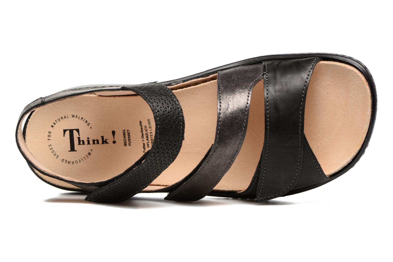 Sandales et nu-pieds Think! Camilla 80434 Noir vue gauche