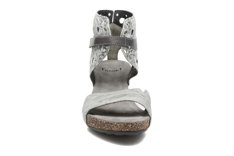 Sandales et nu-pieds Think! Traudi 80579 Gris vue portées chaussures