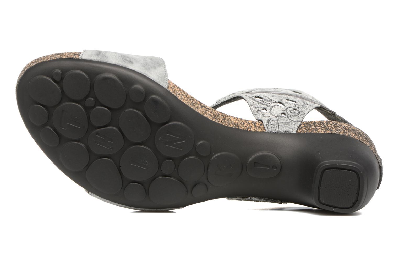 Sandales et nu-pieds Think! Traudi 80579 Gris vue haut