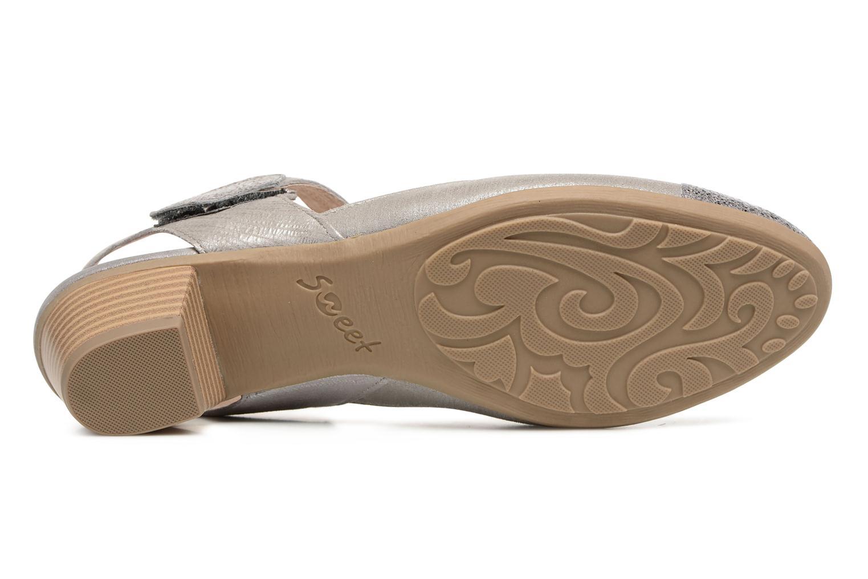 Sandales et nu-pieds Sweet Dimo Gris vue haut