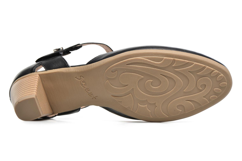 Sandales et nu-pieds Sweet Dozia Noir vue haut