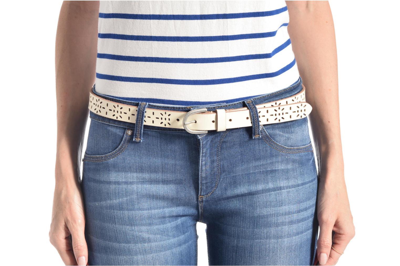 Cinturones Esprit Perforated leather belt Azul vista de arriba