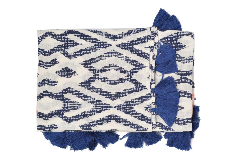 Ethno jacquard scarf 90x190 Blue