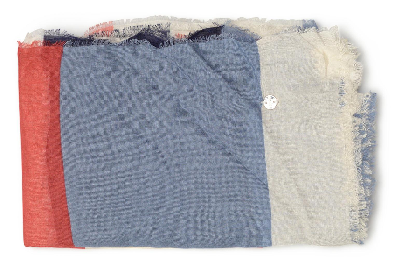 Print stripes scarf 100x200 Berry Red