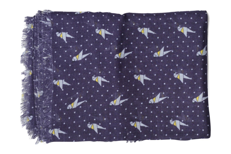 Print stripes scarf 100x200 Navy