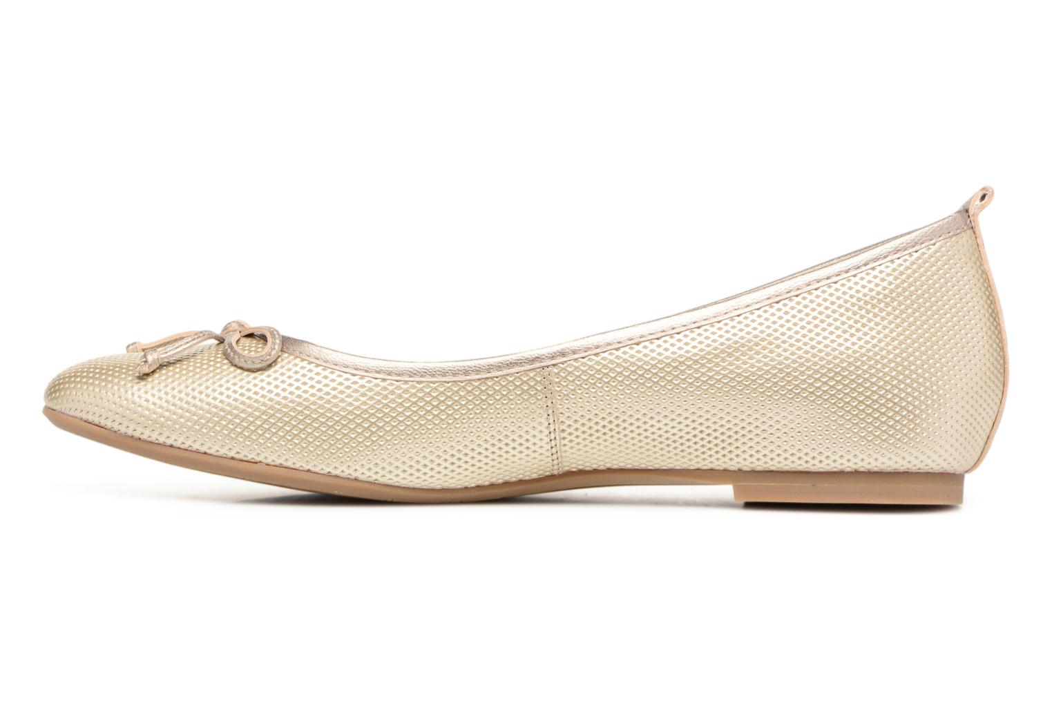 Ballet pumps JB MARTIN 1Miss Bronze and Gold front view