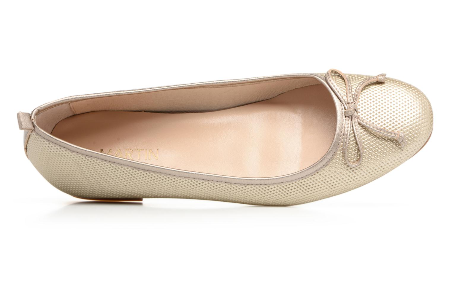 Ballet pumps JB MARTIN 1Miss Bronze and Gold view from the left