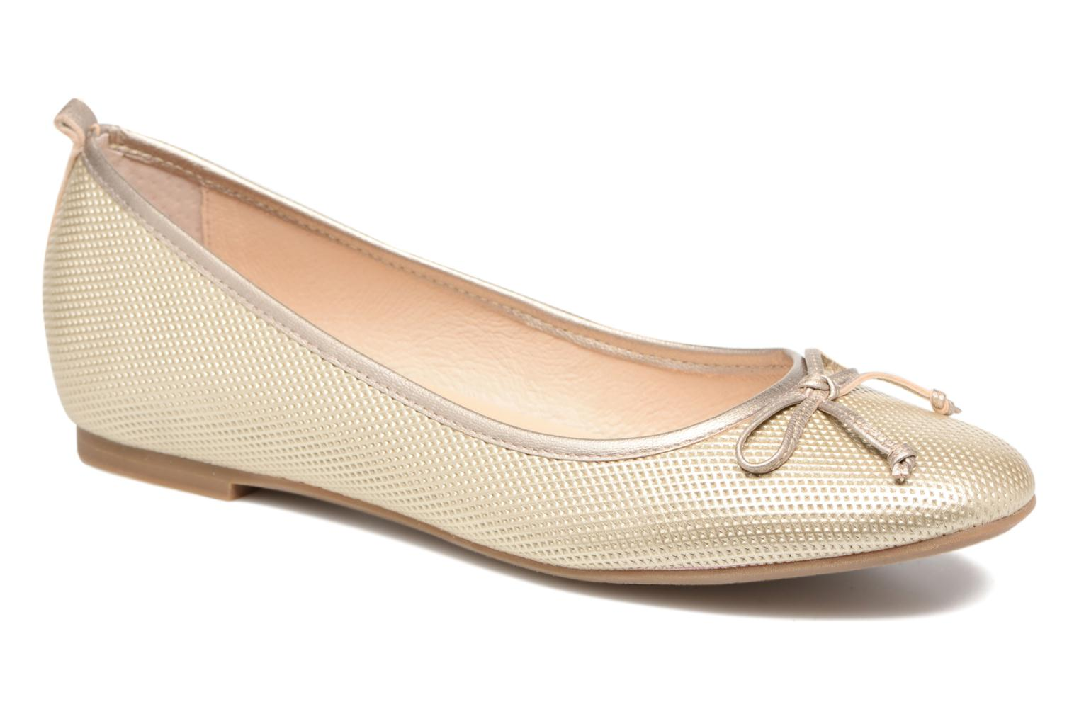 Ballet pumps JB MARTIN 1Miss Bronze and Gold detailed view/ Pair view