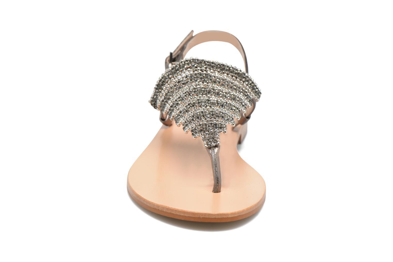 Sandales et nu-pieds JB MARTIN 1Angy Argent vue portées chaussures