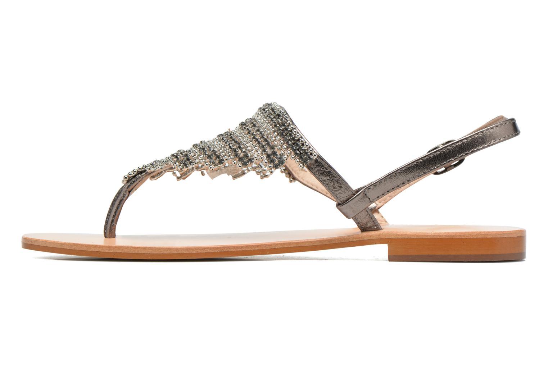 Sandales et nu-pieds JB MARTIN 1Angy Argent vue face