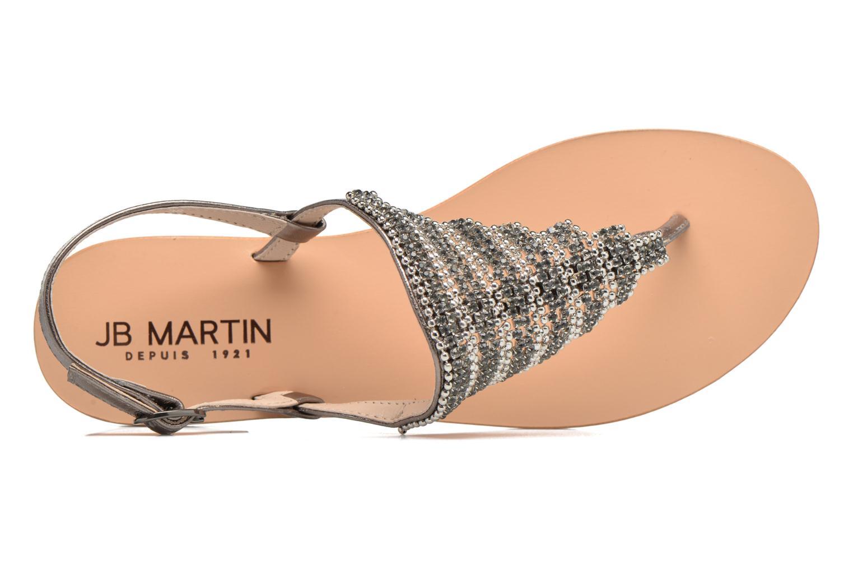 Sandales et nu-pieds JB MARTIN 1Angy Argent vue gauche