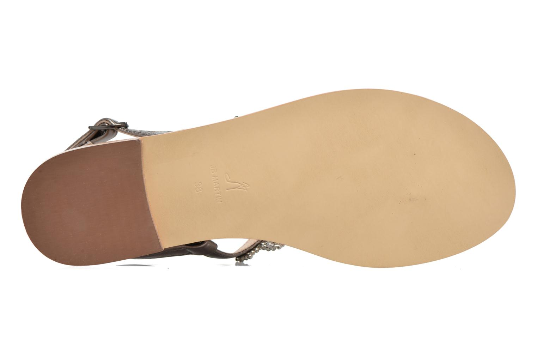 Sandales et nu-pieds JB MARTIN 1Angy Argent vue haut