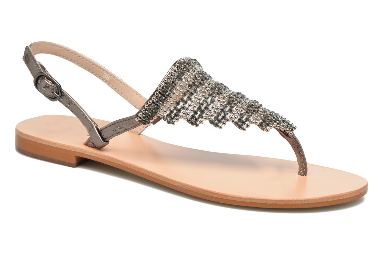 Sandales et nu-pieds JB MARTIN 1Angy Argent vue détail/paire