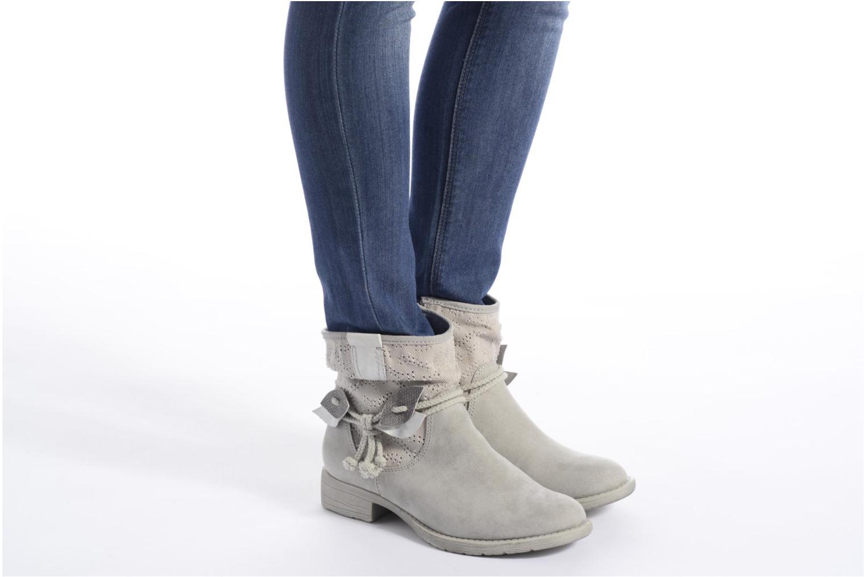 Bottines et boots Jana shoes Karen Gris vue bas / vue portée sac