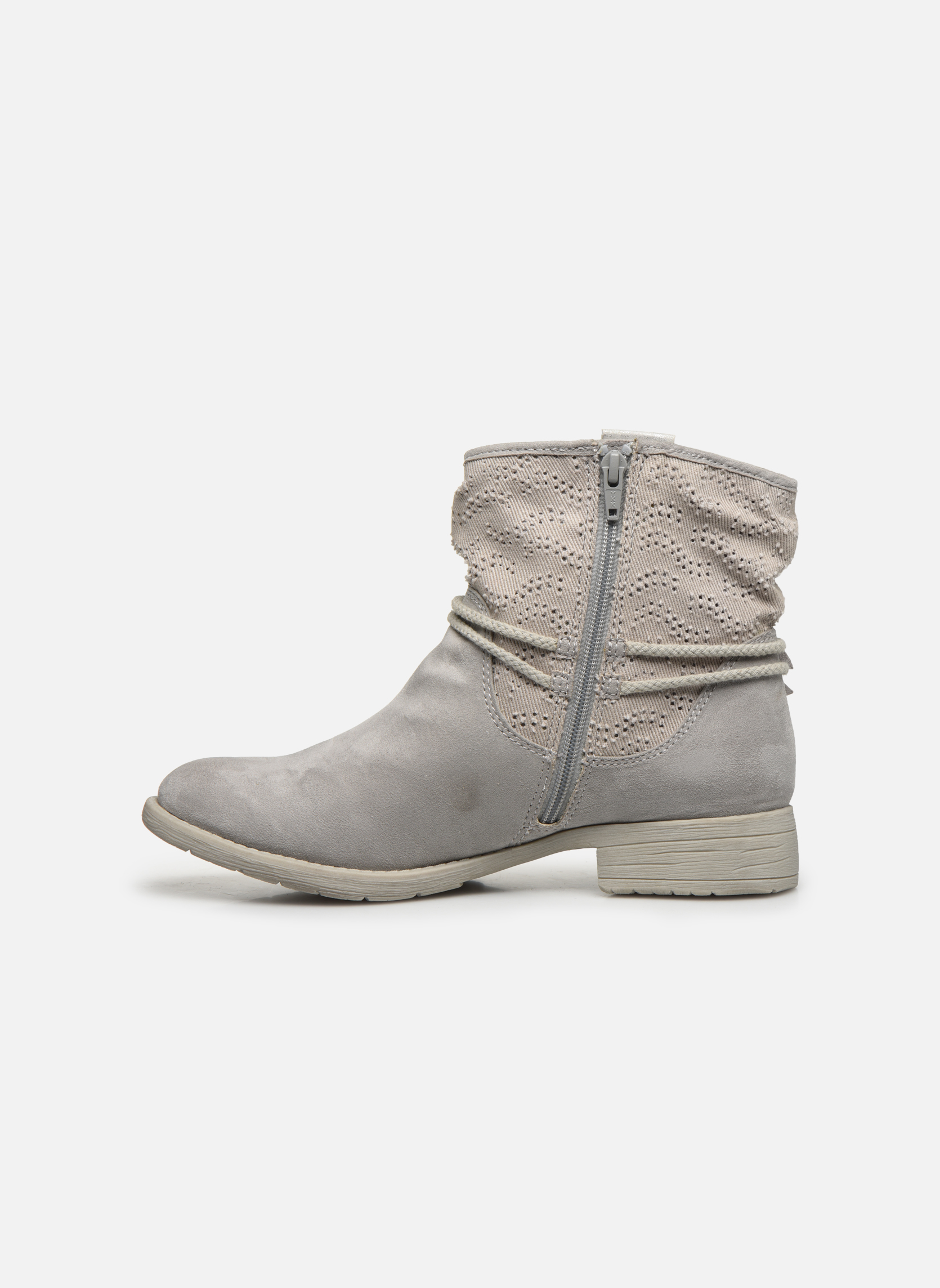 Bottines et boots Jana shoes Karen Gris vue face