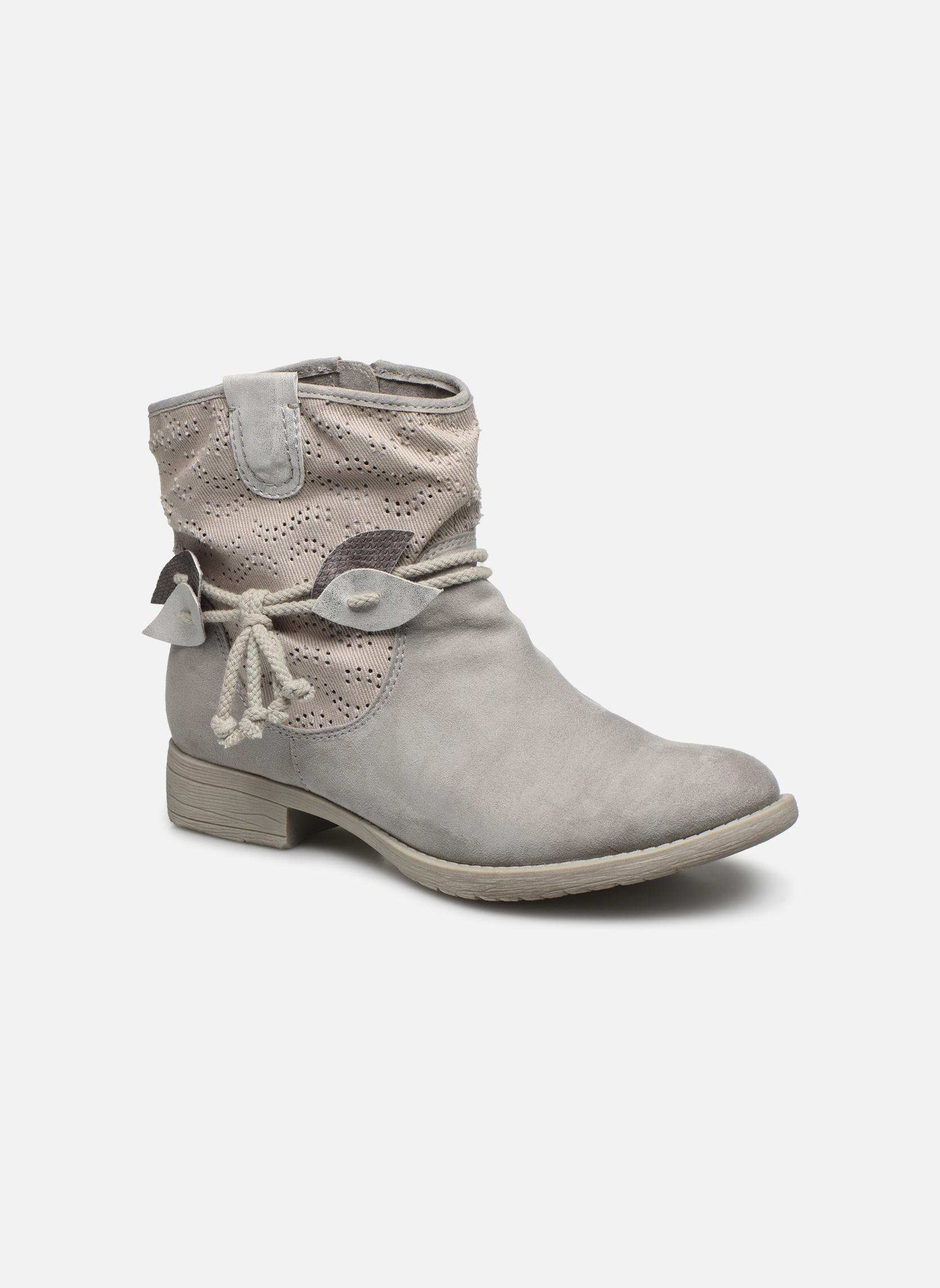 Bottines et boots Jana shoes Karen Gris vue détail/paire
