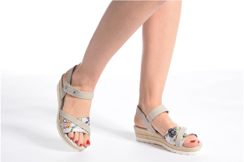 Sandales et nu-pieds Jana shoes Kata Beige vue bas / vue portée sac