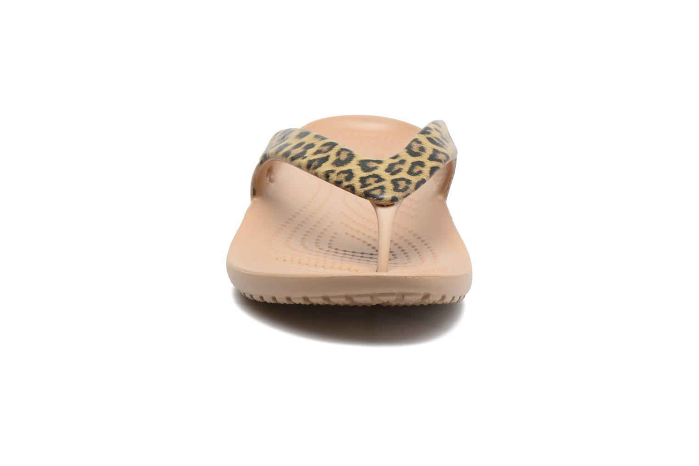 Tongs Crocs Kadee II Leopard Print Flip W Or et bronze vue portées chaussures