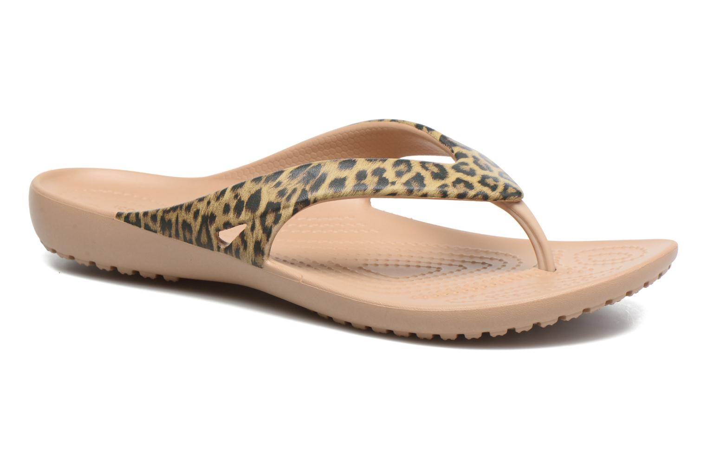 Tongs Crocs Kadee II Leopard Print Flip W Or et bronze vue détail/paire