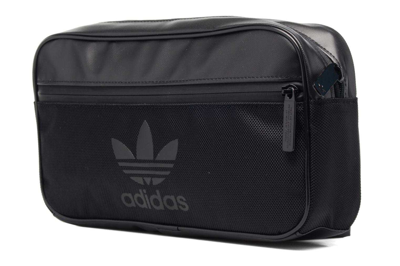 Sacs homme Adidas Originals CB BAG SPORT Banane Noir vue portées chaussures