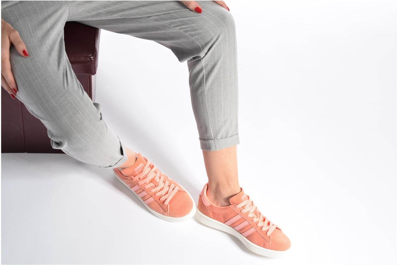 Baskets Adidas Originals Campus W Violet vue bas / vue portée sac