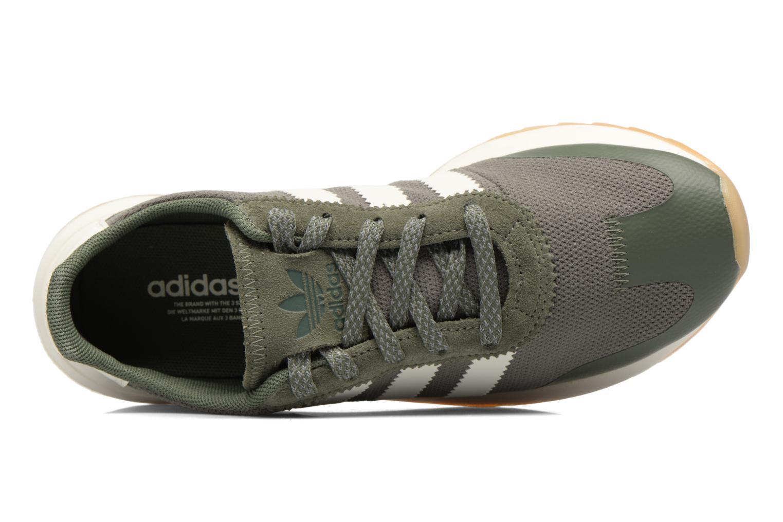 Baskets Adidas Originals Flb W Vert vue gauche