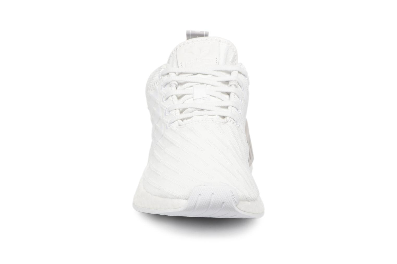 Baskets Adidas Originals Nmd_R2 W Blanc vue portées chaussures