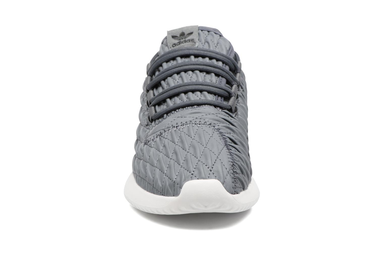 Sneaker Adidas Originals Tubular Shadow W grau schuhe getragen