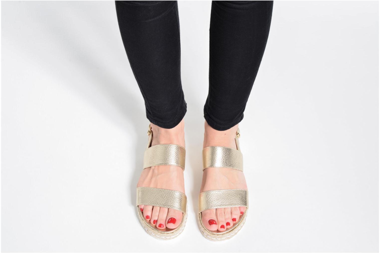 Sandales et nu-pieds Dune London Lacrosse Or et bronze vue bas / vue portée sac