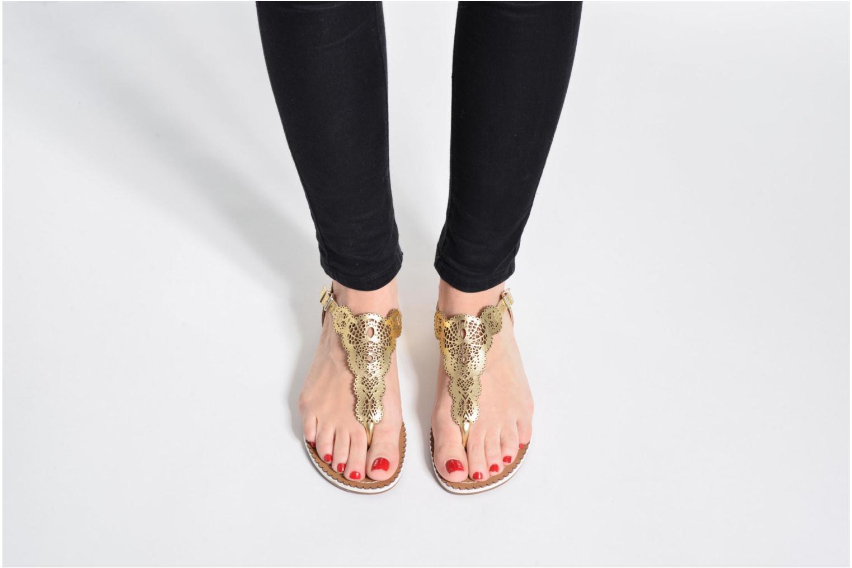 Sandales et nu-pieds Dune London Lill Bleu vue bas / vue portée sac