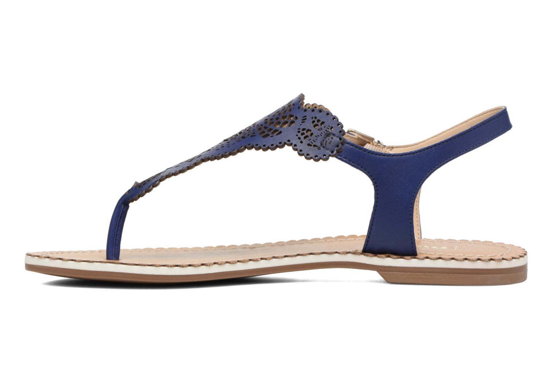 Sandales et nu-pieds Dune London Lill Bleu vue face