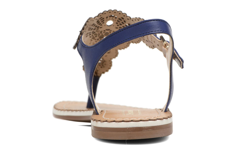 Sandales et nu-pieds Dune London Lill Bleu vue droite