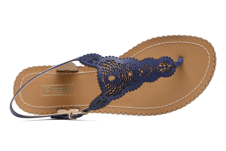 Sandales et nu-pieds Dune London Lill Bleu vue gauche