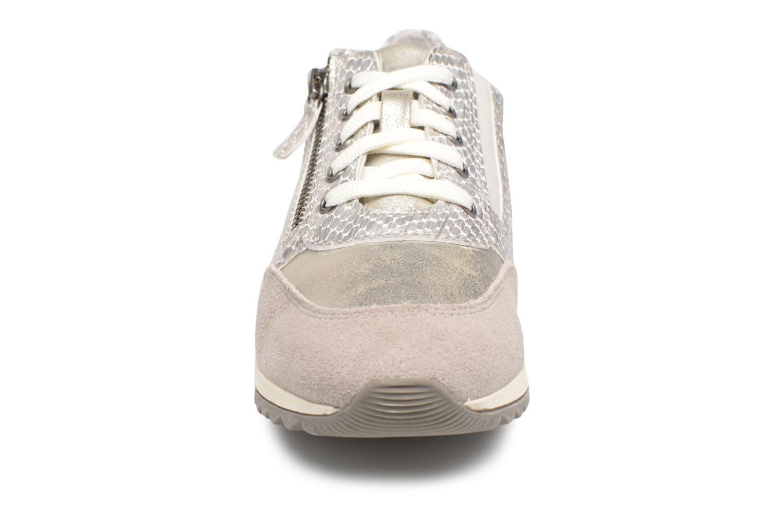 Baskets Jana shoes Tania Argent vue portées chaussures