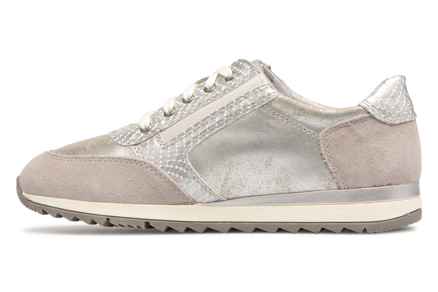 Trainers Jana shoes Tania Silver front view