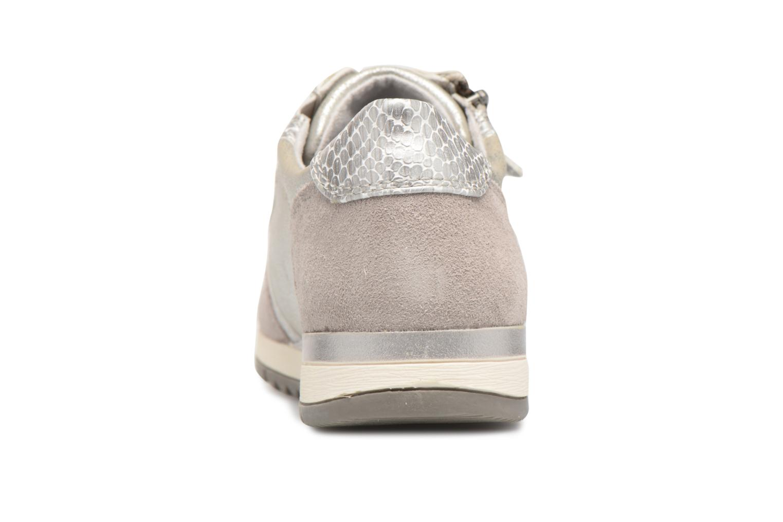 Baskets Jana shoes Tania Argent vue droite