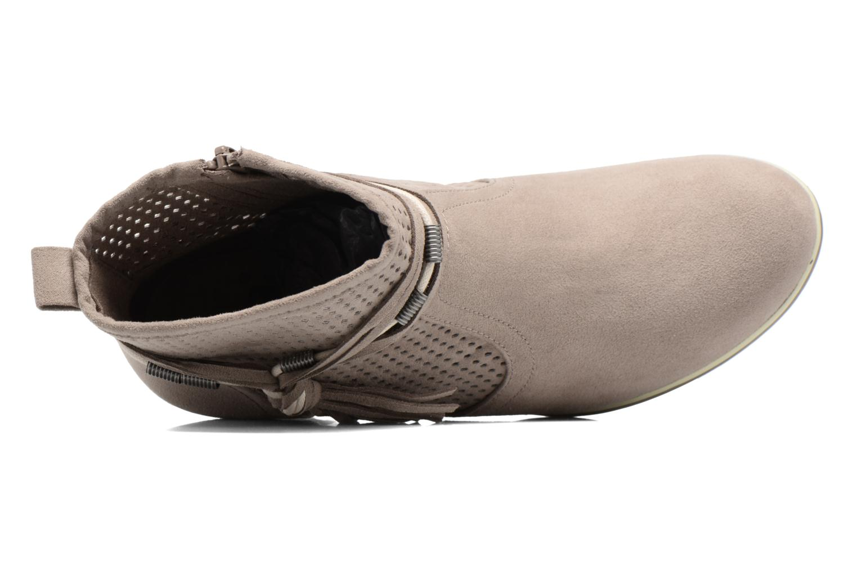 Boots en enkellaarsjes Jana shoes Paz Grijs links