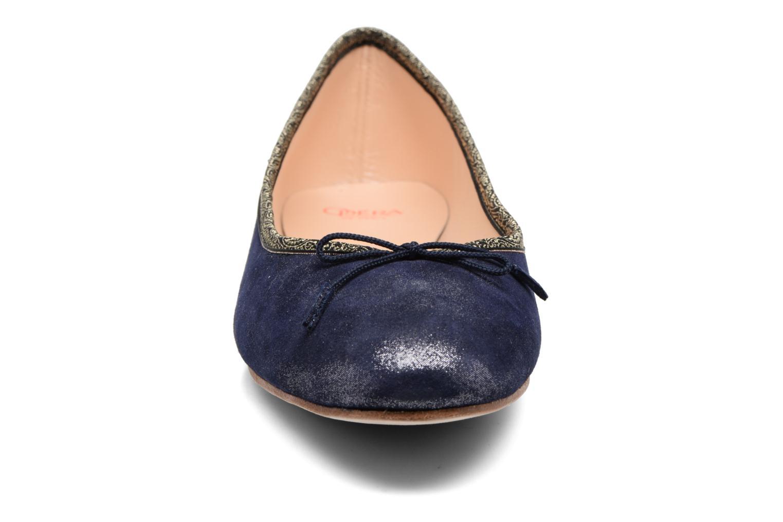 Ballerines Opéra national de Paris Edina Bleu vue portées chaussures