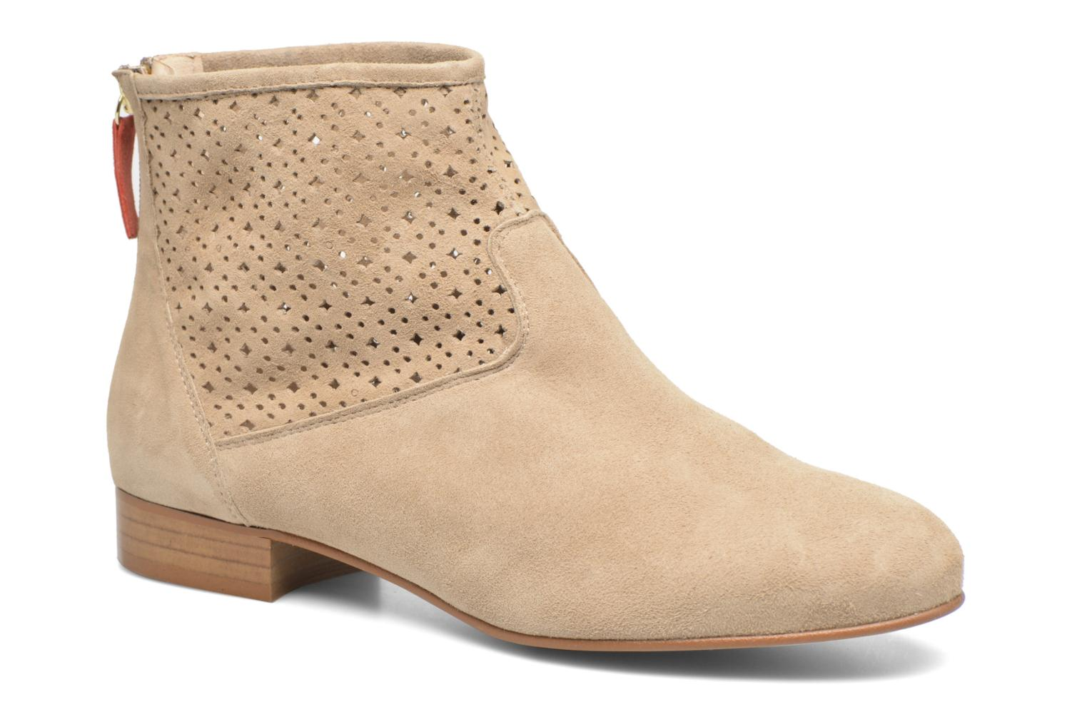 Marques Chaussure femme HE Spring femme Pila Suède taupe