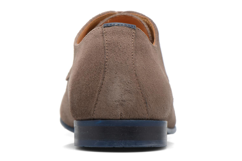 Zapatos con cordones HE Spring Peter Marrón vista lateral derecha